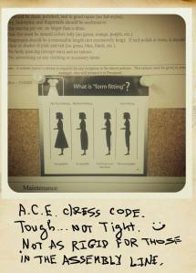 ACE dress code