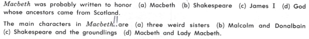 English 1135 Macbeth
